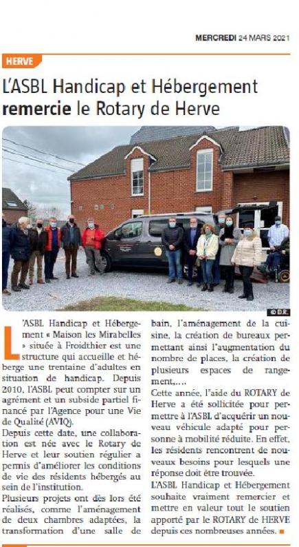 Vlan - La Quinzaine - 24 mars 2021 - Handicap et Hébergement